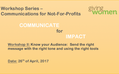 Communications Workshop 2: Know your audience: Send the right message with the right tone and using the right tools26 April 2017Geneva