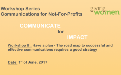 Communications Workshop 3: Have a plan – The road map to successful and effective communications requires a good strategy01 June 2017Geneva
