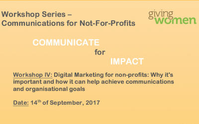 Communications Workshop 4: Digital Marketing for the NGO sector: Why it's important and how it can help achieve communications and organisational goals14 September 2017Geneva
