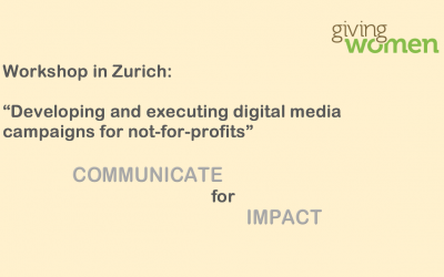 Developing and executing a media campaign for non-profit organisations 11 May 2017Zurich